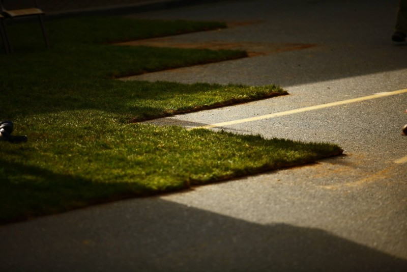 the art of turning concrete to grass